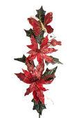 Kırmızı christmas dekorasyon şubeleri — Stok fotoğraf