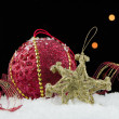 Christmas ball baubles — Stock Photo