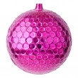 Pink dull christmas ball — Stock Photo