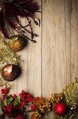 Jul dekorationer ram — Stockfoto