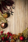 Marco de adornos de navidad — Foto de Stock