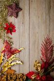 Trame de décorations de noël — Photo