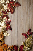 Christmas decorations frame — Stock Photo