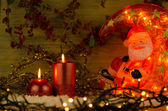 Two candles Christmas decoration — Stock Photo