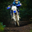 Royalty-Free Stock Photo: Enduro bike rider