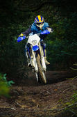 Enduro-biker — Stockfoto