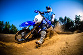 Enduro bike rider — Stock fotografie