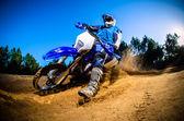 Enduro motor binici — Stok fotoğraf