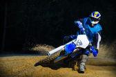 Enduro kolo jezdec — Stock fotografie