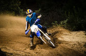Enduro bike rider — Stock Photo