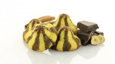Homemade chocolate cookies — Stock Video