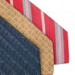 Closeup of three ties — Foto Stock