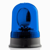 Blue rotating beacon — Stock Photo