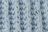 Gebreide blauwe wol — Stockfoto