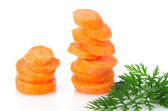 Pile of carrot slices — Stock Photo