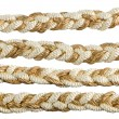 Golden rope curtain tassels — Stock Photo
