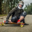 Downhill skateboarder in action — Stock Photo #23062920