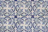 Traditional Portuguese glazed tiles — Stock Photo