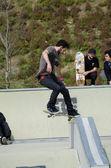 Unidentified skater — Stock Photo