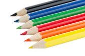 Kolorowe kredki — Zdjęcie stockowe
