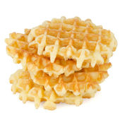 Pile of sweet waffles — Stock Photo