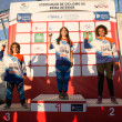 Girls 14 years podium - Stock Photo
