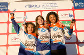 Girls 14 years podium — Stock Photo
