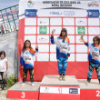 Girls podium — Stock Photo