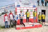Teams podium — Stock Photo