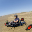 Ricardo Costa on a Kitebuggy — Photo