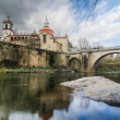 Bridge and Cathedral of Saint Goncalo - Stock Photo