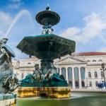 Baroque fountain on rossio square — Stock Photo #25420005
