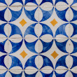 Traditional Portuguese glazed tiles — Stock Photo #26542829