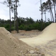 BMX biker jumping dirt jumps — Stock Video
