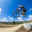 Bmx big air jump — Stock Photo #27011751