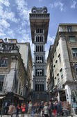 Santa Justa elevator in Lisbon — Stock Photo