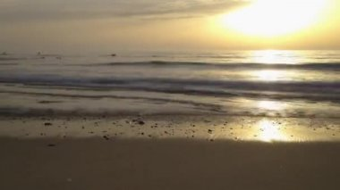 Timelapse Sunset on the beach — Stock Video