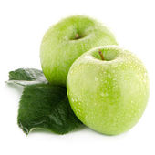 Two fresh green apples — Stock Photo