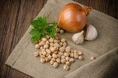 大蒜和洋葱 — 图库照片