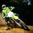 Stock Photo: Enduro bike rider