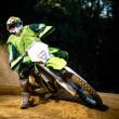 Enduro bike rider — Stock Photo