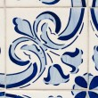Traditional Portuguese glazed tiles — Stock Photo #28445371