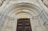 Old church entrance door — Stock Photo