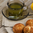 Lemon tea and cookies — Stock Photo