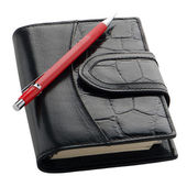 Leather notebook — Stock Photo