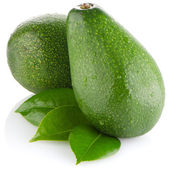 Avocados on white — 图库照片