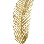 Christmas decorative golden feather — Stock Photo