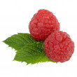 Ripe red raspberry — Stock Photo