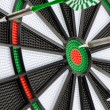 Dart board with darts — 图库照片
