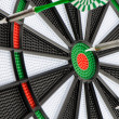 Stock Photo: Dart board with darts